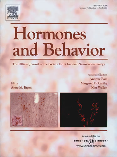 Hormones and Behavior Cover Image
