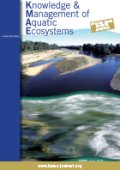 Knowledge and Management of Aquatic Ecosystems Cover Image
